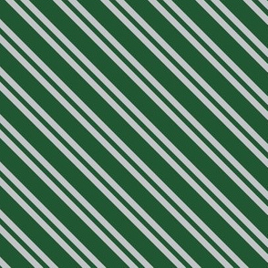Diagonal Double Stripes in Green and Grey