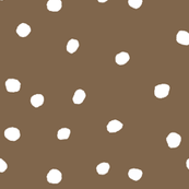 COTTON BALL DOTS Brown