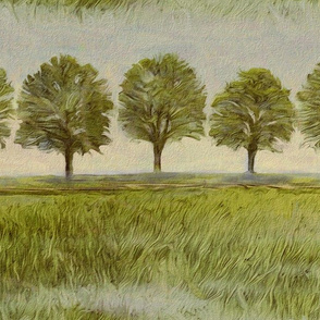 Tree row painted