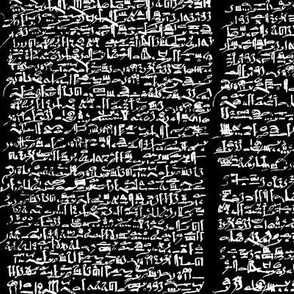 Egyptian Script on Black // Small