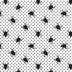 Ticks on black dots