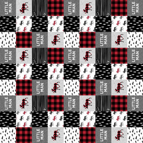 "2"" small scale (90) - little man patchwork quilt top 