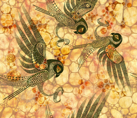 Spirit of the Dessert The Falcon fabric by mimipinto on Spoonflower - custom fabric