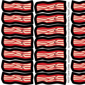 "Big Bacon DIY Cut and Sew Catnip Cat Toys!   **PRINTS ON 58"" WIDTH FABRICS ONLY**"