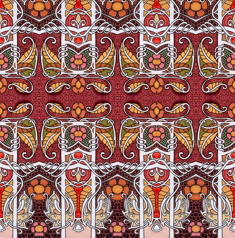 An Edwardian Thanksgiving fabric by edsel2084 on Spoonflower - custom fabric