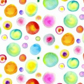 Rainbow Watercolor Dots