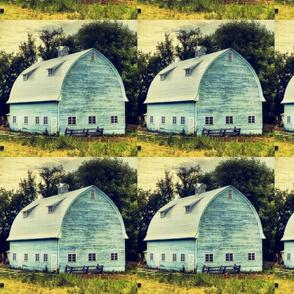 Vintage Aqua Barn