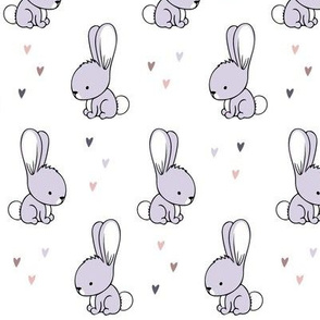 baby bunnies || purple