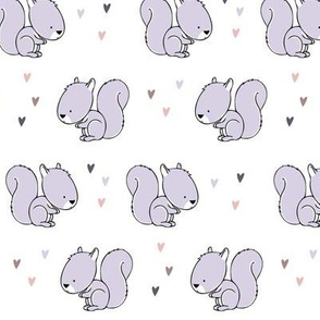 baby squirrels || purple