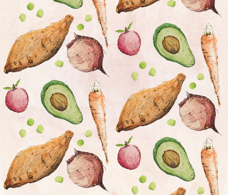 Season's Harvest fabric by milleappeal on Spoonflower - custom fabric