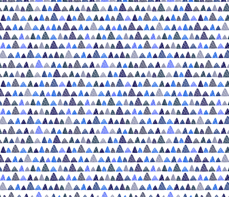 Blue mountains fabric by mariamsol on Spoonflower - custom fabric