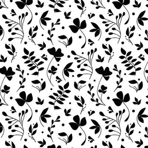 Meadow black on white