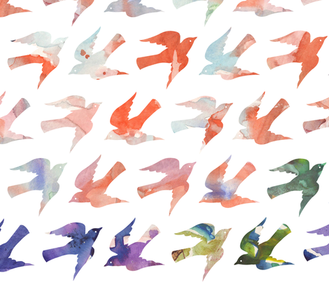 Painting the Sky fabric by lellobird on Spoonflower - custom fabric
