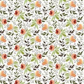 Magnolias on white background