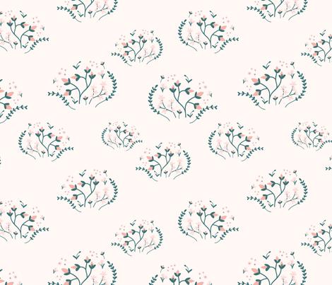 Retro Flowers fabric by elancreativeco on Spoonflower - custom fabric