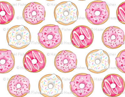 Iced Donuts - Pink 2 inch donuts