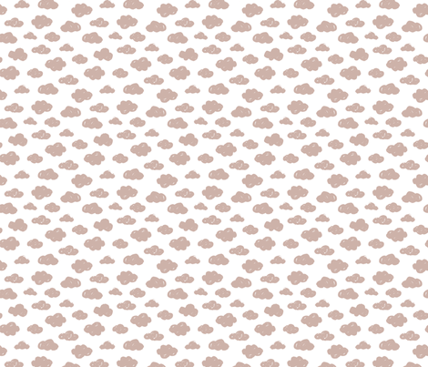 Beige pastel clouds monochrome and white abstract geometric gender neutrals prints for kids Small fabric by littlesmilemakers on Spoonflower - custom fabric
