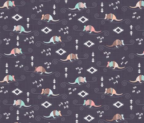 Armadillos fabric by gabriellemutel on Spoonflower - custom fabric