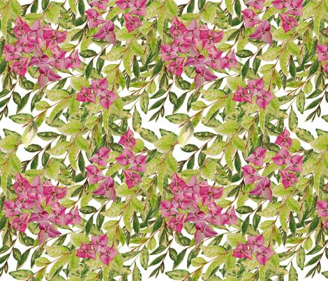Bougainvillea Watercolor fabric by jpweaver on Spoonflower - custom fabric