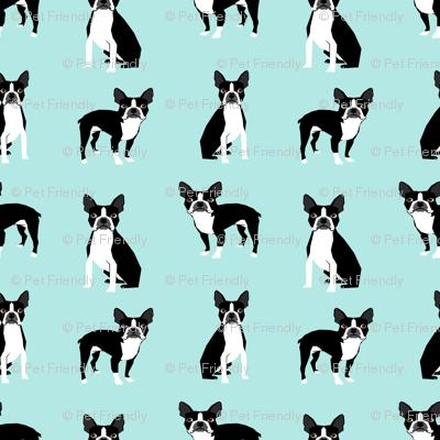 boston terriers mint cute dog fabric best dog design best light mint dog black and white nursery dog fabric