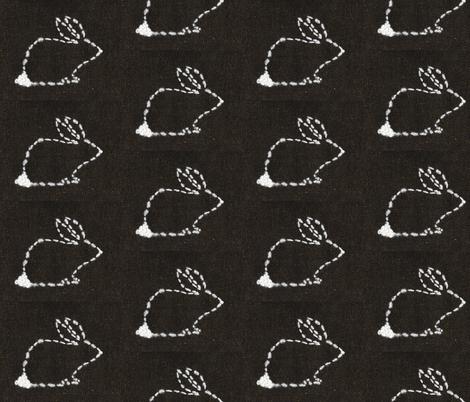Worrier Rabbit fabric by atlas_&_tootsie on Spoonflower - custom fabric