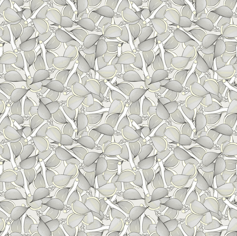 Garlic natural fabric by susiprint on Spoonflower - custom fabric