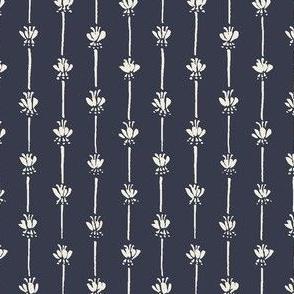 Rose stripes — navy