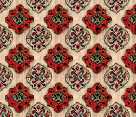 Painted Moroccan Motifs fabric by brittany_vogt on Spoonflower - custom fabric