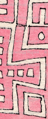 city grid maze in pink