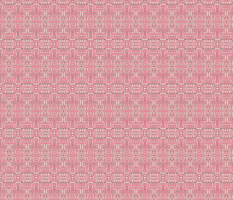 city grid maze in pink fabric by fiberdesign on Spoonflower - custom fabric