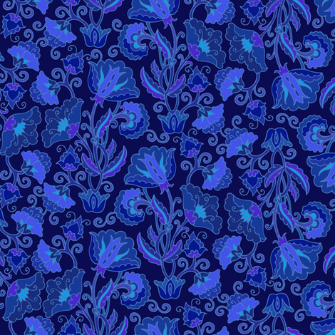 Violet floral fabric by dariara on Spoonflower - custom fabric
