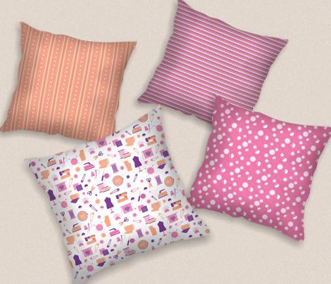 Craft Buttons - pink