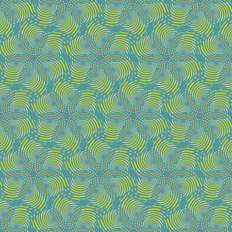 Spiral fantasy grey and green fabric by susiprint on Spoonflower - custom fabric