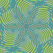 Spiral fantasy grey and green