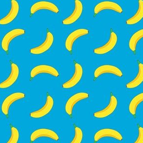 Bannana Cute Fruit Funny on Teal Background
