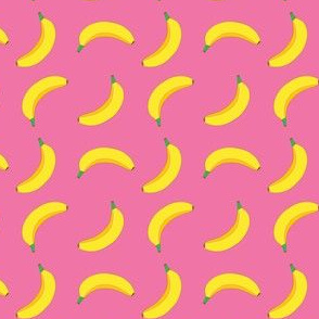 Bannana Cute Fruit Funny on Pink Background