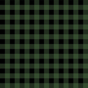 buffalo check hunter green plaid fabric