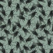 Flies military green
