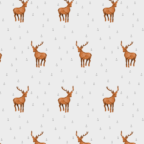 Buck Watercolor fabric by mrshervi on Spoonflower - custom fabric
