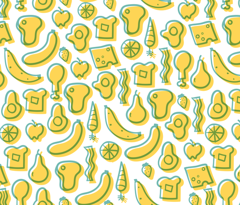 All the Foods fabric by ohmygoshman on Spoonflower - custom fabric