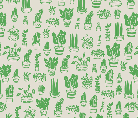 Cactus & Succulents fabric by ohmygoshman on Spoonflower - custom fabric