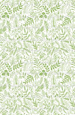 Greenery Block Print Pattern