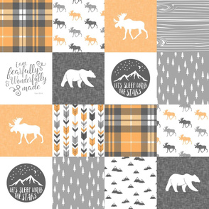 Fearfully and Wonderfully Made - Patchwork woodland quilt top  (V2)