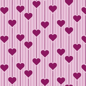 Purple dropping hearts