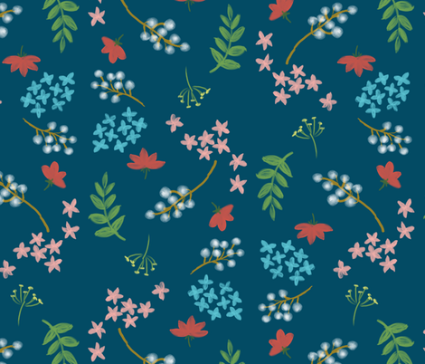 Painted garden fabric by mrshervi on Spoonflower - custom fabric