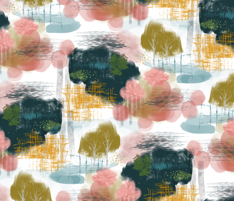 Of Paint and Pen fabric by mrshervi on Spoonflower - custom fabric