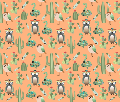 Deep in the desert fabric by sara_gerrard on Spoonflower - custom fabric