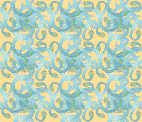 Snakes fabric by ruthjohanna on Spoonflower - custom fabric