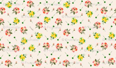 pompom bouquet spring