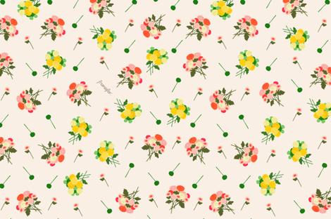 pompom bouquet spring fabric by frumafar on Spoonflower - custom fabric